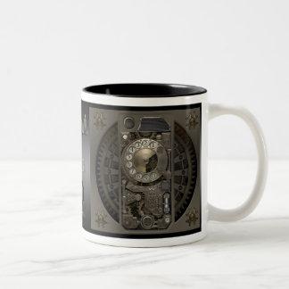 Steampunk Device - Rotary Dial Phone. Two-Tone Mug