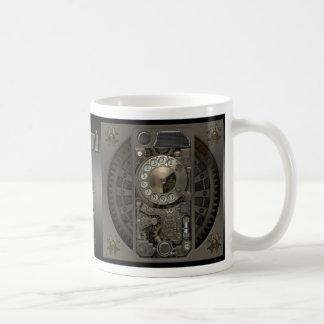 Steampunk Device - Rotary Dial Phone. Classic White Coffee Mug