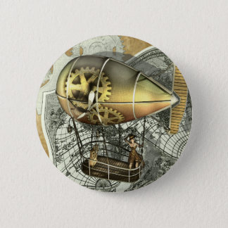 Steampunk Dirigible Air Tour Button
