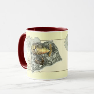 Steampunk Dirigible Air Tour Coffee Mugs