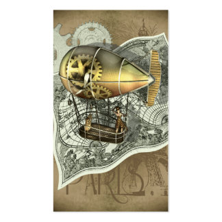 Steampunk Dirigible Air Tour Profile Cards Pack Of Standard Business Cards