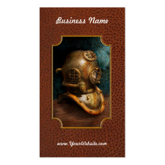 Steampunk - Diving - The diving helmet Business Card Template
