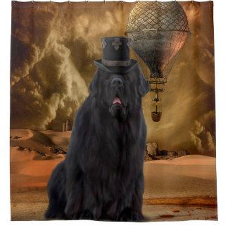 Steampunk Dog Shower Curtain