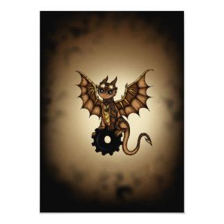 Steampunk Dragon 13 Cm X 18 Cm Invitation Card