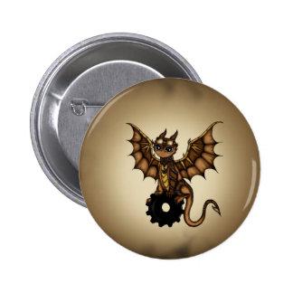 Steampunk Dragon 6 Cm Round Badge
