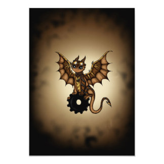 Steampunk Dragon Card