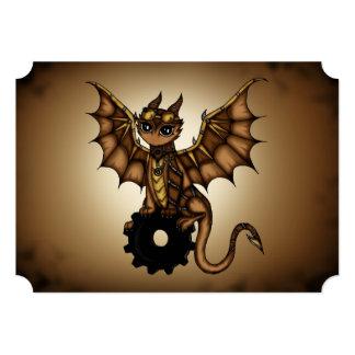 """Steampunk Dragon invitation 5"""" X 7"""" Invitation Card"""