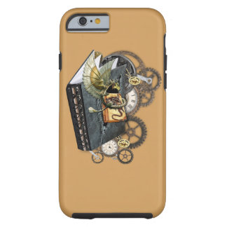 Steampunk dragon story books tough iPhone 6 case