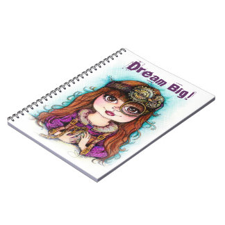 Steampunk Dream Big Notebook