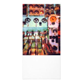 Steampunk - Electrical Control Room Custom Photo Card