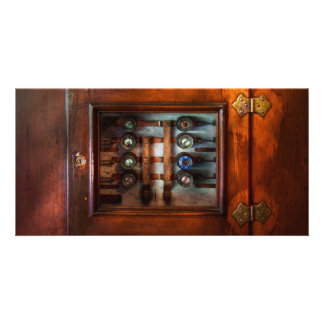 Steampunk - Electrical - The fuse panel Customized Photo Card
