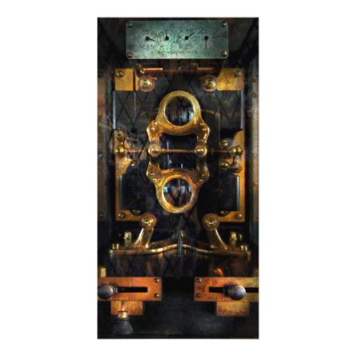 Steampunk - Electrical - The power meter Customized Photo Card