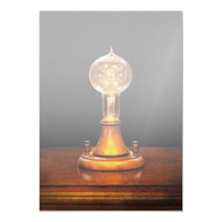 Steampunk - Electricity - Bright ideas Personalized Announcements