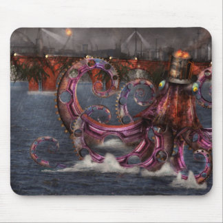 Steampunk - Enteroctopus magnificus roboticus Mouse Pad