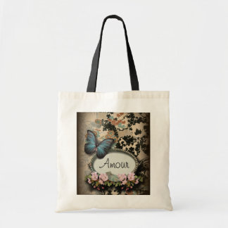 steampunk Ephemera floral Butterfly victorian Tote Bag