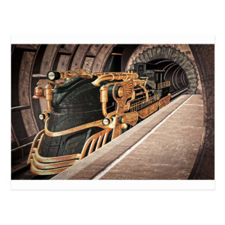 Steampunk Express Postcard