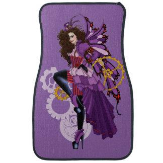 Steampunk fairy all in purple car mat