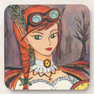 Steampunk Fairy Coaster Set