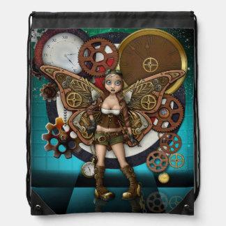 Steampunk Fairy Drawstring Backback Drawstring Bag