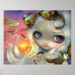 Steampunk Fairy Windswept ART PRINT