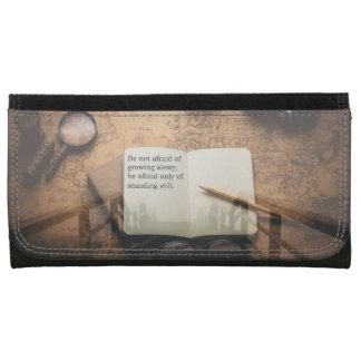 Steampunk Faux Leather Purse Wallet