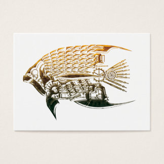 Steampunk fish business cards