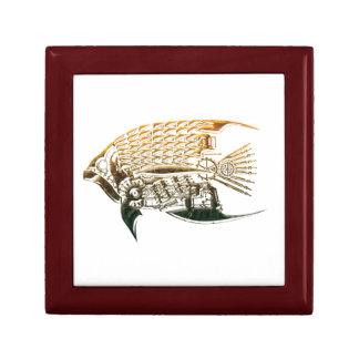 Steampunk fish giftbox gift box