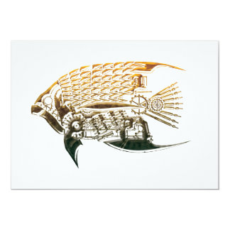 Steampunk fish invitations