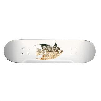 Steampunk fish skateboard