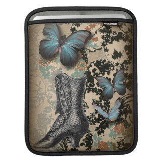 steampunk floral butterfly vintage Victorian Shoe iPad Sleeve