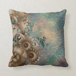 Steampunk Floral Cushion