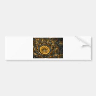 Steampunk flower bumper sticker