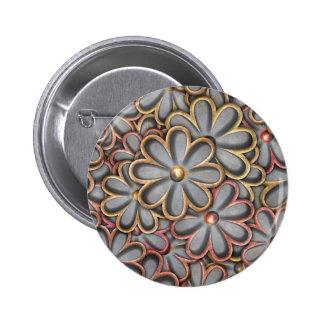 Steampunk Flower Power 6 Cm Round Badge