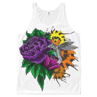 Steampunk flower splash All-Over print tank top