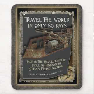 Steampunk Flying Machine Mousepad