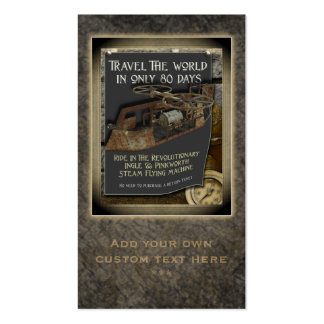 Steampunk Flying Machine Social Profile Cards Pack Of Standard Business Cards