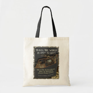 Steampunk Flying Machine Tote Bag