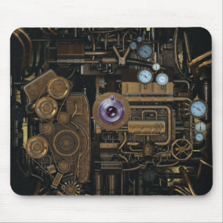 Steampunk Gauge Gear Camera Mouse Mat