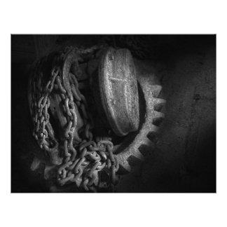 Steampunk - Gear - Hoist and chain Custom Flyer