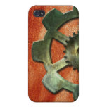 Steampunk Gear on Leather-look 2 iPhone Speck Case iPhone 4/4S Cases
