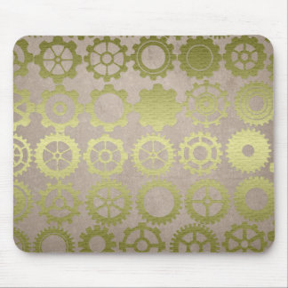 Steampunk Gears and Cogs Art Mouse Pad