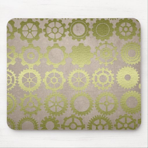 Steampunk Gears and Cogs Art Mouse Mat