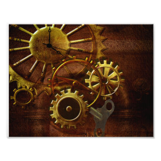 Steampunk Gears and Pipes Photo Print