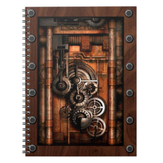 SteamPunk Gears and Rivets Spiral Note Books
