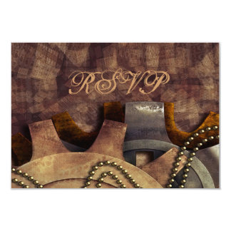 Steampunk Gears & Baubles Wedding Card