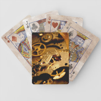 Steampunk Gears Bicycle Playing Cards