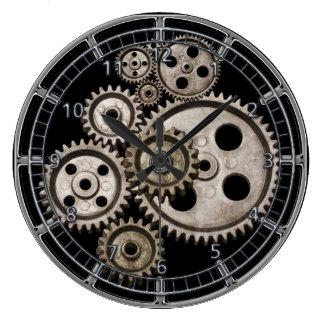 steampunk gears cogs engine vintage machine clock