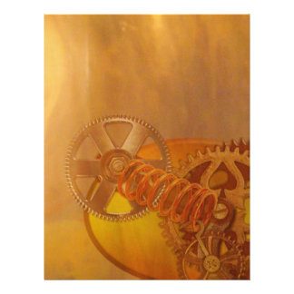 steampunk gears cogs mechanics design 21.5 cm x 28 cm flyer