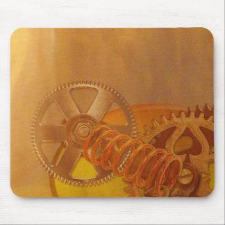 steampunk gears cogs mechanics design mouse pad