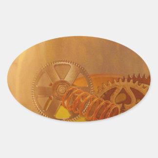 steampunk gears cogs mechanics design sticker